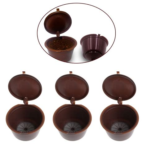 Refillable Capsule For Nescafe Dolce Gusto 3pcs 3pcs reusable capsules filter cup for nescafe dolce gusto coffee pod new in coffee filters from
