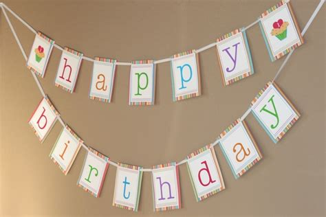 free printable happy birthday banner templates best