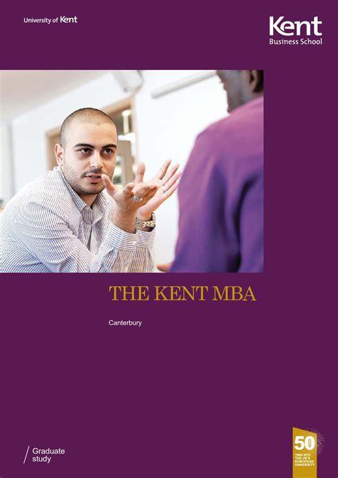 Kent Mba Program by Mba Brochure 2014 15 By Kent Business School Issuu