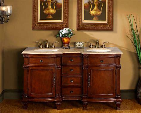 60quot bathroom vanity cabinet travertine stone top lavatory