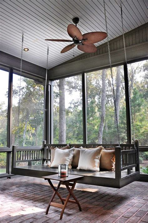 hanging swing from ceiling 25 best ideas about outdoor swing beds on pinterest