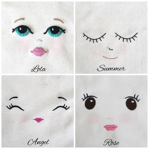 printable doll eyes embroidered doll face lola calico o o p s i d a i s