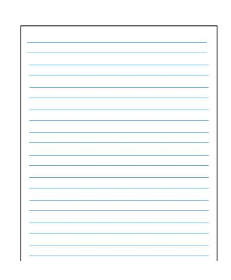 blank kindergarten writing paper 26 sle lined paper templates free premium templates