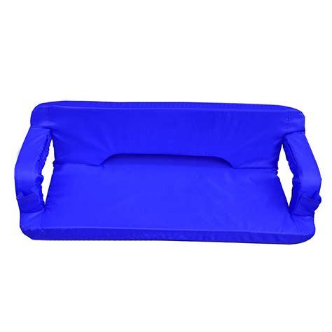 reclining stadium seat goteam portable reclining padded cushion loveseat