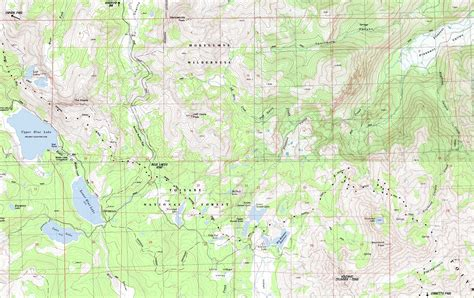 20 Square Feet To Meters by Topo Map Blue Lakes Road Amp Tamarack Lake Pacific Crest Trail