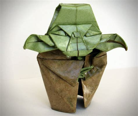 How To Make The Real Origami Yoda - origami yoda sculpture
