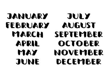 april month  handwritten calligraphic word bold font