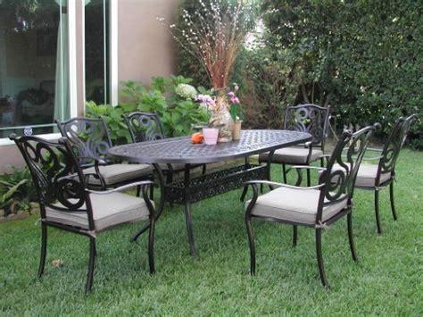 reviews cbm outdoor cast aluminum patio furniture 7 pcs