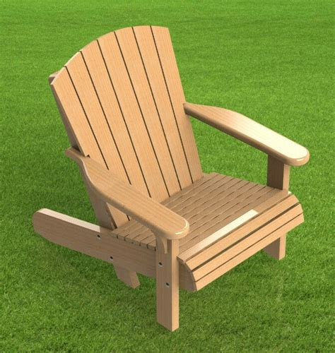 Adirondack Chairs Only by Adirondack Style Lawn Chair Building Plans 002 Easy To