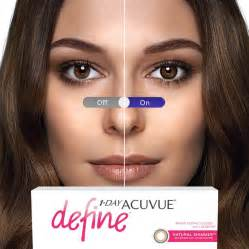 acuvue color contacts shimmer contact lenses 1 day acuvue define by
