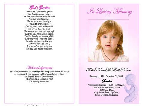 publisher menu templates free funeral program templates pink angel graduated fold