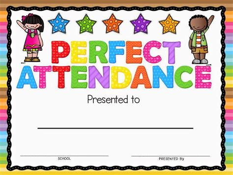 attendance award template attendance award new calendar template site