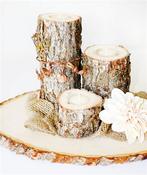 rustic log centerpieces 15 diy centerpiece ideas how to nest for less