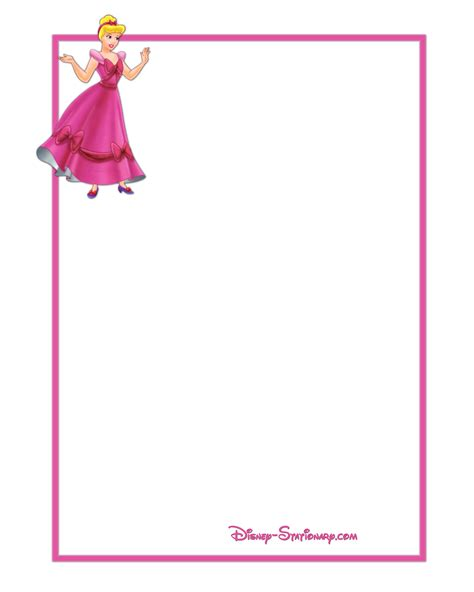 printable princess stationery princess theme clipart clipart suggest