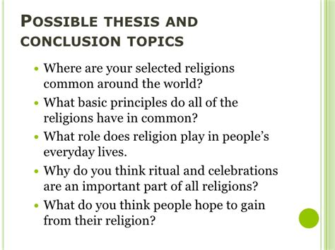 7 Common Beliefs All Religions by 7 Religion Dbq