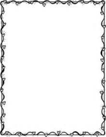 Black And White Valentines Day Clipart Border Clipartfest Valentine sketch template
