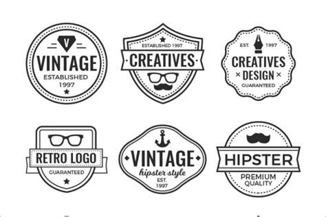 hipster vintage badge templates free premium