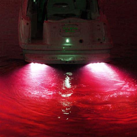 boat underwater lights red 50w 4000 lumen red garboard led boat drain plug light