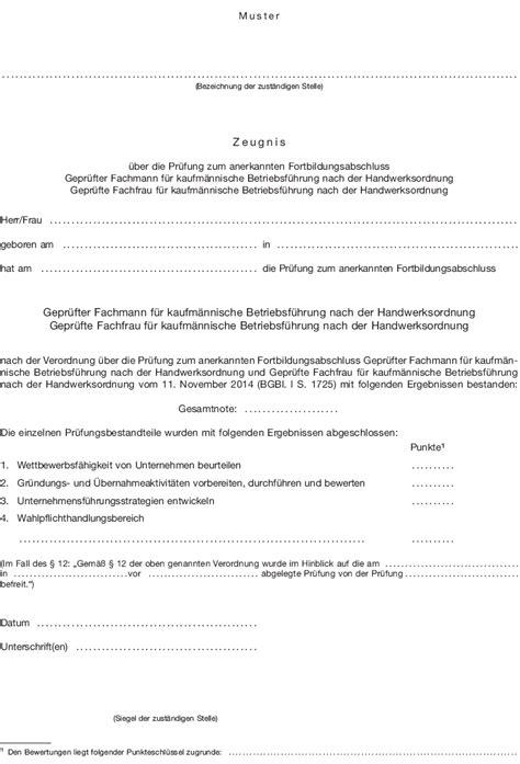 Muster Zeugnis Anlage 2 Pr 252 Vofortkfmbf Zu 167 13 Absatz 3 Muster Zeugnis 252 Ber Die Pr 252 Fung Zum Anerkannten