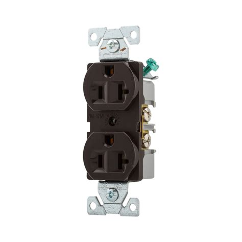 brown electrical sockets shop cooper wiring devices 125 volt 20 brown duplex