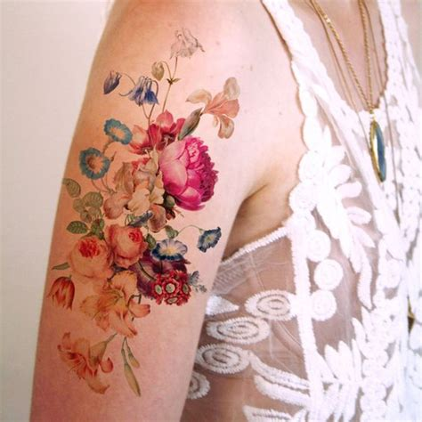 vintage flower tattoos vintage flower tattoos pictures to pin on