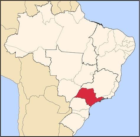 sao paulo state map san paulo brazil map