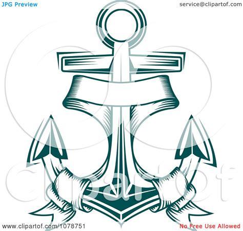 doodle jangkar clipart teal nautical anchor and banner logo 2 royalty