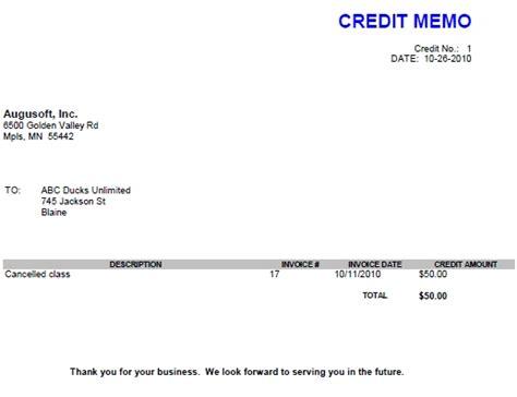 Credit Memo Letter Format 8 Credit Memos