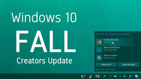 windows 10 fall creators update top 10 new features nuevo windows 10 fall creators update 161 top 5 novedades
