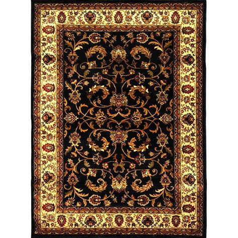 Home Dynamix Royalty Black Ivory 7 Ft 8 In X 10 Ft 4 In Home Dynamix Area Rug