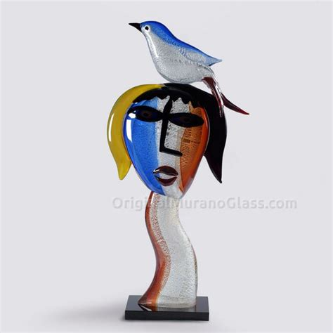 picasso glass tribute to pablo picasso sing glass sculpture