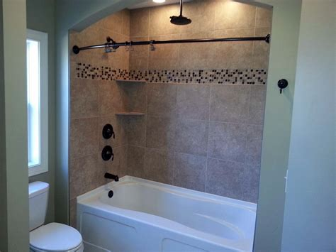 tiling bathtub walls tub shower combo ideas for small bathrooms bath decors