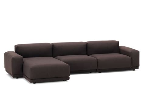 3 seater couch with chaise buy the vitra place three seater chaise sofa at nest co uk