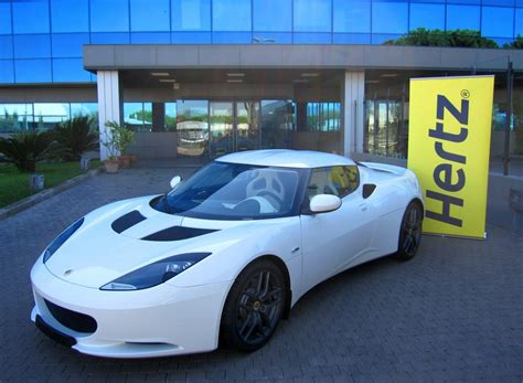 lotus rental car lotus evora offered as hertz rental car autoevolution