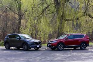 2017 mazda cx 5 vs 2017 honda cr v comparison test