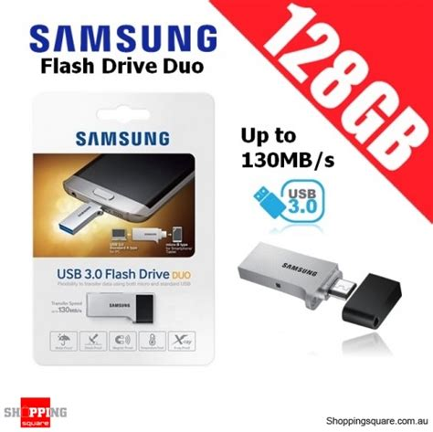 Samsung Otg Usb 3 0 Flash Drive Duo 32gb samsung flash drive duo 128gb usb 3 0 up to 130mb s micro usb smartphone pc tablet otg