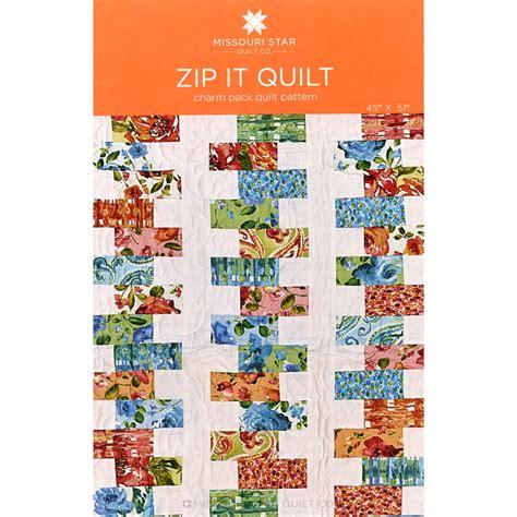 pattern for zipper quilt zip it quilt pattern msqc