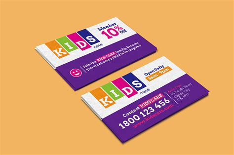 after school care business card template brandpacks