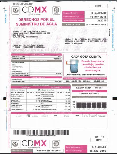 plataforma mexico recibos de pago del df sacmex df gob mx recibo cdmx recibo de pago recibo de