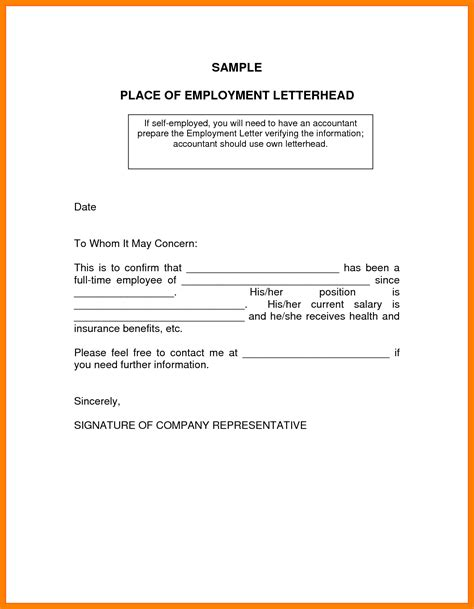10 Self Employment Letters Writing A Memo Proof Of Income For Self Employed Template