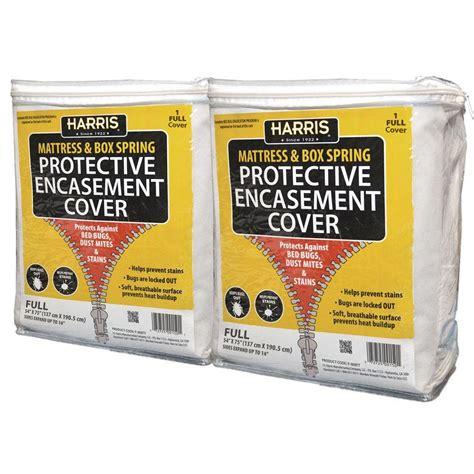 harris bed bug mattress  box spring protective covers full  pack  matt  home depot