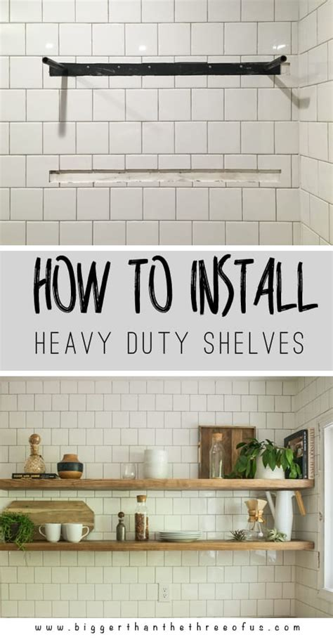 how to install floating shelves how to install heavy duty floating shelves for the kitchen bigger than the three of us
