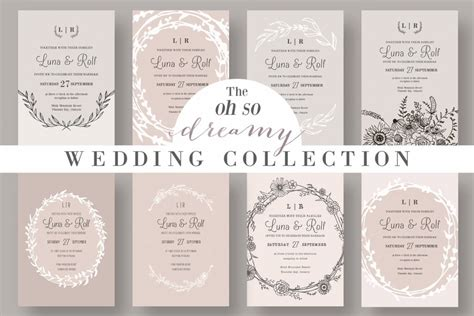 Wedding Invitation Layout Design by 90 Gorgeous Wedding Invitation Templates Design Shack