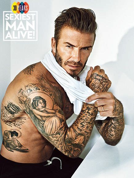david beckham s 40 tattoos and the special sexiest alive david beckham on his 40 plus tattoos i