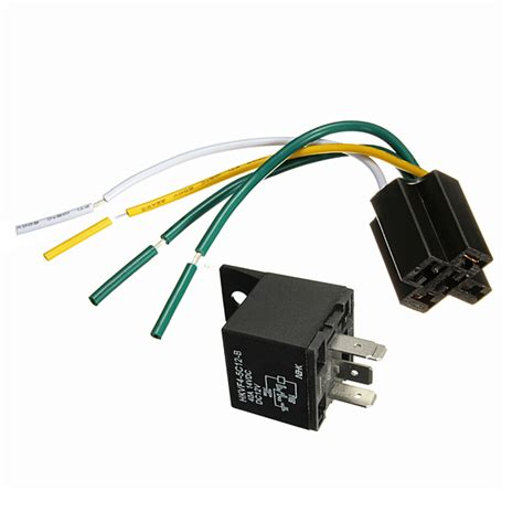 12v 12 volt 30 40a automotive relay with socket 30