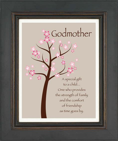 items similar to godmother gift gift from godchild custom print wall art gift for