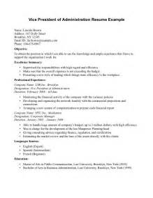 Resume Sle Business by Resume For Associate Degree In Business Administration