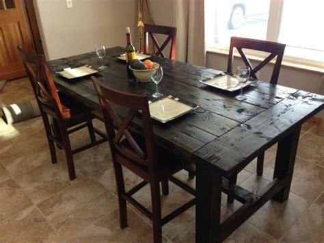 easy farmhouse table plans distressed farm table project how to build a farm table