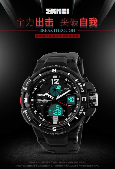 Jam Tangan Nike Tahan Air skmei jam tangan sporty digital analog pria ad1148 black gold jakartanotebook