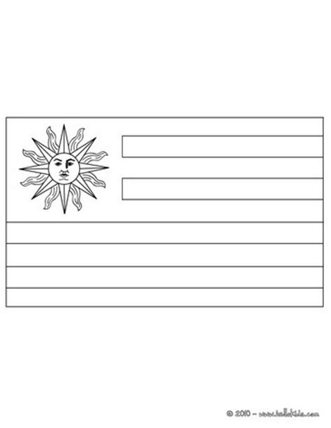 flag of uruguay coloring pages hellokids com
